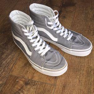 Vans grey high top skate shoe